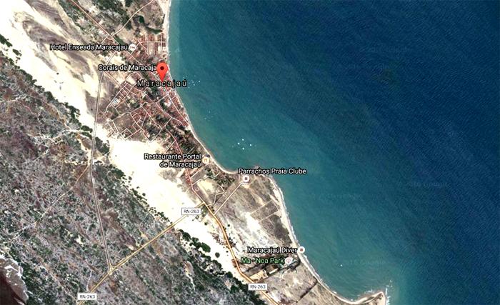 post-curiosidade-naufragios-navios-rn-mapa-satelite-praia-maracajau