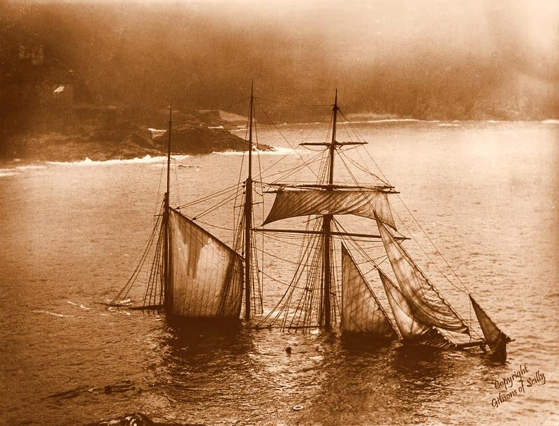 A barca inglesa Mildred, que encalhou em 1912. Foto: TOK de História