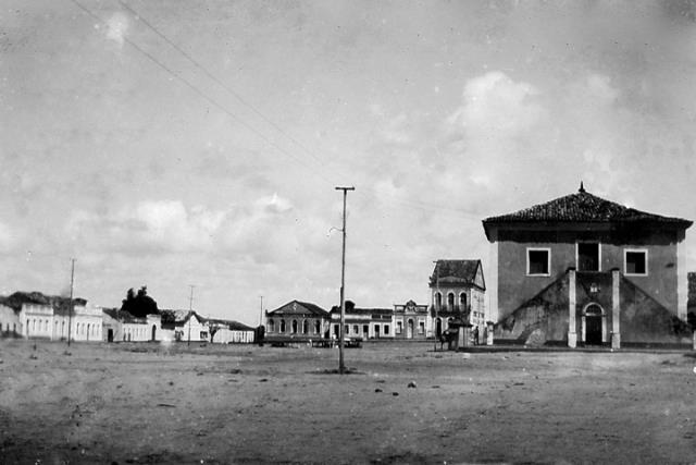 Vista panorâmica do Centro de São José de Mipibu na primeira metade do século passado.